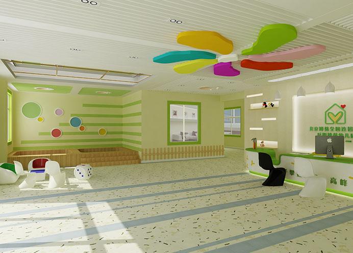 小区家庭式幼儿园装修效果图 现代欧式地中海风格幼儿
